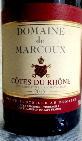 Domaine de Marcoux - Cotes du Rhone 2015