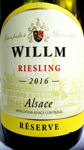 Willm Riesling riserva 2016