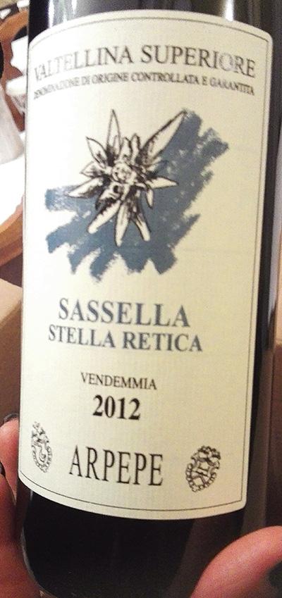 Arpepe Sassella Stella Retica 2012