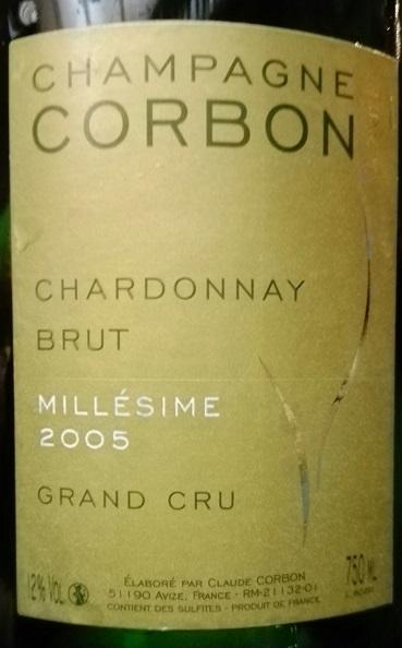 Corbon Grand Cru 2005