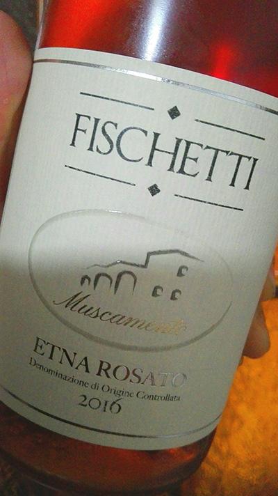 Fischetti - Muscamento 2016 Etna Rosato