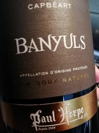 Paul Herpe Banyuls Capbéart VDN